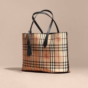 Authentic Burberry Haymarket Reversible Tote